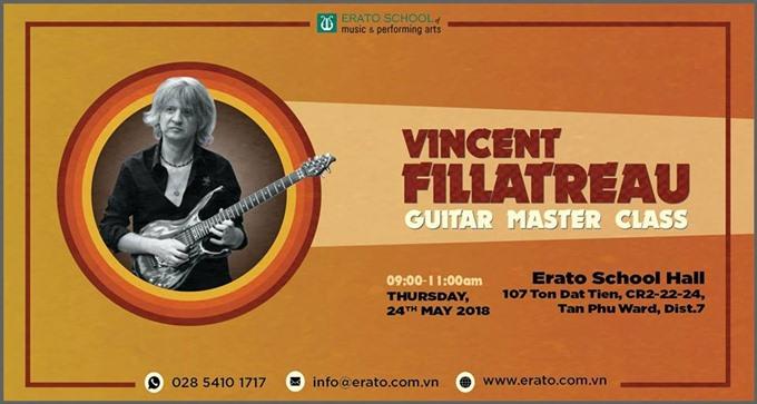 Guitar concert features Vincent Fillatreau,entertainment events, entertainment news, entertainment activities, what's on, Vietnam culture, Vietnam tradition, vn news, Vietnam beauty, news Vietnam, Vietnam news, Vietnam net news, vietnamnet news, vietnamne