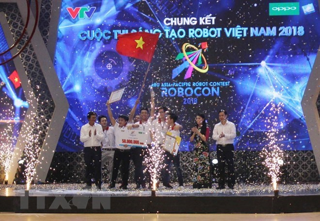 Lac Hong team triumphs at Robocon Vietnam 2018, IT news, sci-tech news, vietnamnet bridge, english news, Vietnam news, news Vietnam, vietnamnet news, Vietnam net news, Vietnam latest news, Vietnam breaking news, vn news