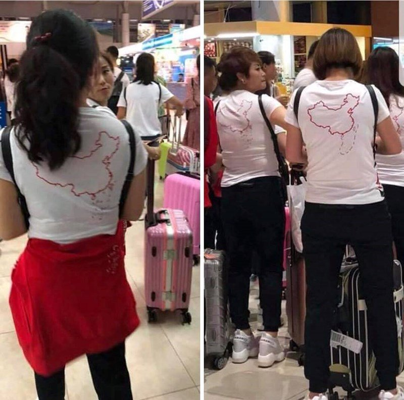 Chinese tourists made to take off illicit map T-shirts, social news, vietnamnet bridge, english news, Vietnam news, news Vietnam, vietnamnet news, Vietnam net news, Vietnam latest news, vn news, Vietnam breaking news