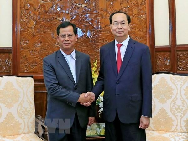 President Tran Dai Quang receives Lao Deputy Minister of Public Security, Government news, Vietnam breaking news, politic news, vietnamnet bridge, english news, Vietnam news, news Vietnam, vietnamnet news, Vietnam net news, Vietnam latest news, vn news