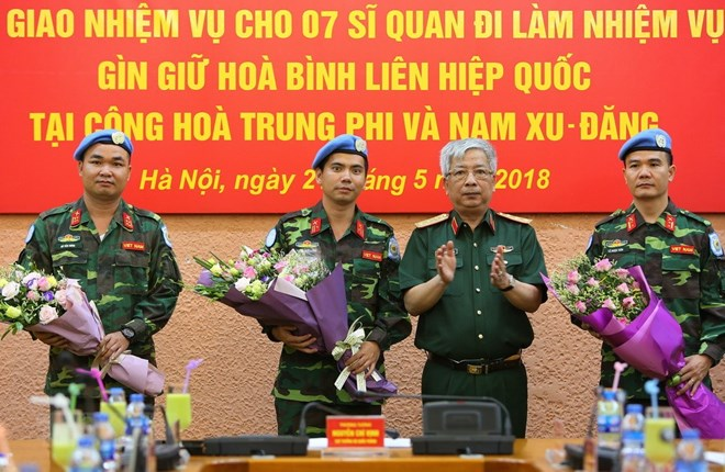 Vietnam sends seven more officers to UN peacekeeping mission, Government news, Vietnam breaking news, politic news, vietnamnet bridge, english news, Vietnam news, news Vietnam, vietnamnet news, Vietnam net news, Vietnam latest news, vn news