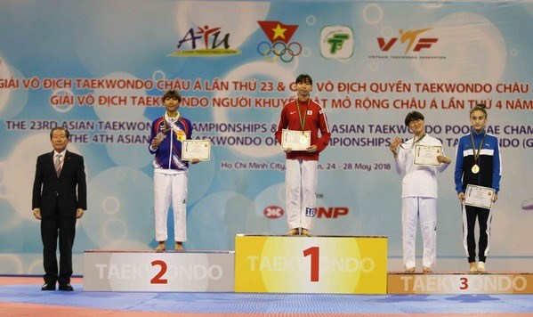 Vietnamese athlete wins gold medal at Asian Taekwondo Champs, Sports news, football, Vietnam sports, vietnamnet bridge, english news, Vietnam news, news Vietnam, vietnamnet news, Vietnam net news, Vietnam latest news, vn news, Vietnam breaking news
