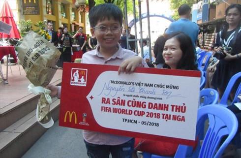 Vietnamese boy wins chance to attend FIFA World Cup Final, Sports news, football, Vietnam sports, vietnamnet bridge, english news, Vietnam news, news Vietnam, vietnamnet news, Vietnam net news, Vietnam latest news, vn news, Vietnam breaking news
