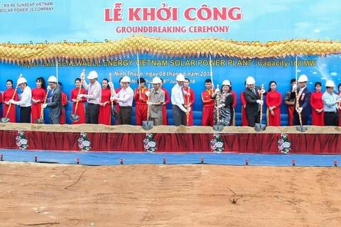 VN's largest solar project breaks ground, vietnam economy, business news, vn news, vietnamnet bridge, english news, Vietnam news, news Vietnam, vietnamnet news, vn news, Vietnam net news, Vietnam latest news, Vietnam breaking news