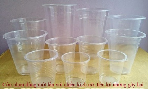 Plastic disposable cups prohibited in some countries, but not Vietnam