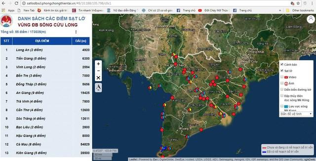 Landslides-erosions in Mekong Delta put on map
