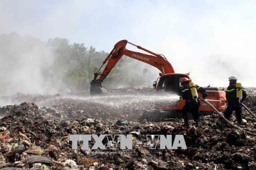 Dozens affected by landfill fire in Nghe An, social news, vietnamnet bridge, english news, Vietnam news, news Vietnam, vietnamnet news, Vietnam net news, Vietnam latest news, vn news, Vietnam breaking news