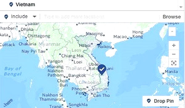 Facebook fixed map wrongfully depicting Vietnam's territory as Chinese