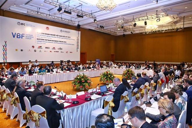 Mid-term Vietnam Business Forum opens in Hanoi, vietnam economy, business news, vn news, vietnamnet bridge, english news, Vietnam news, news Vietnam, vietnamnet news, vn news, Vietnam net news, Vietnam latest news, Vietnam breaking news
