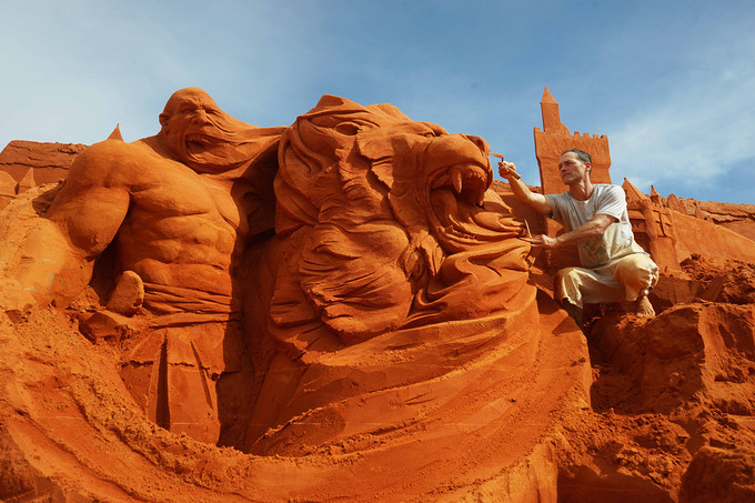 Vietnam's first sand sculpture park opens in Phan Thiet, entertainment events, entertainment news, entertainment activities, what's on, Vietnam culture, Vietnam tradition, vn news, Vietnam beauty, news Vietnam, Vietnam news, Vietnam net news, vietnamnet n