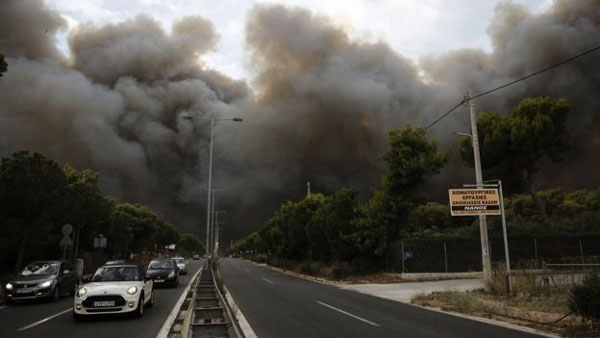 Greece, forest fires