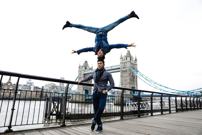 Acrobatic brothers from VN perform on London streets, entertainment events, entertainment news, entertainment activities, what's on, Vietnam culture, Vietnam tradition, vn news, Vietnam beauty, news Vietnam, Vietnam news, Vietnam net news, vietnamnet news