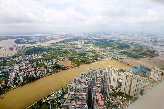 Thu Thien peninsula in district 2 as seen from the observatory.