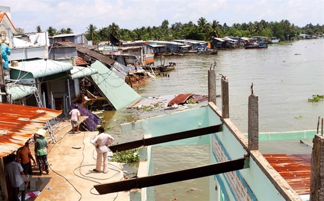 Mekong Delta province works to prevent coastal erosion, Vietnam environment, climate change in Vietnam, Vietnam weather, Vietnam climate, pollution in Vietnam, environmental news, sci-tech news, vietnamnet bridge, english news, Vietnam news, news Vietnam,