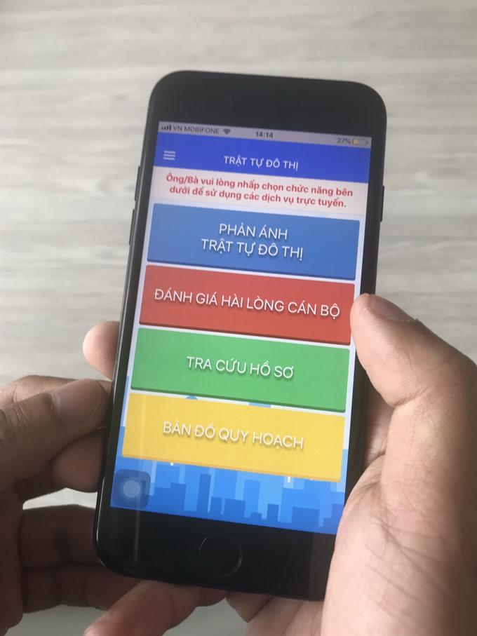 HCM City: Public can report city violations via new app