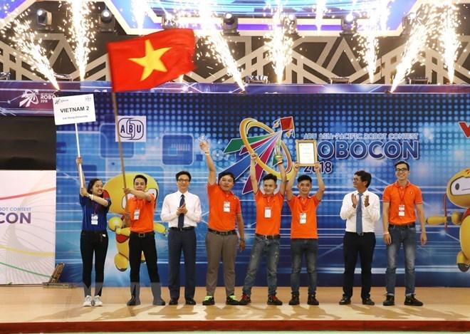 Vietnamese team triumphs at 2018 ABU Robocon contest, IT news, sci-tech news, vietnamnet bridge, english news, Vietnam news, news Vietnam, vietnamnet news, Vietnam net news, Vietnam latest news, Vietnam breaking news, vn news