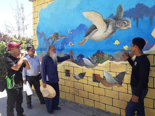 Ly Son murals promote sea turtle protection, Vietnam environment, climate change in Vietnam, Vietnam weather, Vietnam climate, pollution in Vietnam, environmental news, sci-tech news, vietnamnet bridge, english news, Vietnam news, news Vietnam, vietnamnet
