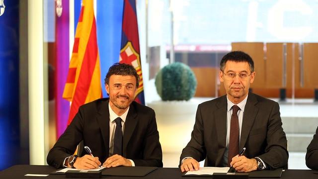 Enrique, Messi, Barca