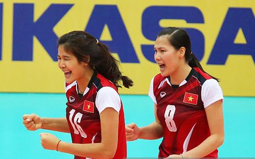 bóng chuyền, Nhật Bản, nữ VN, Châu Á