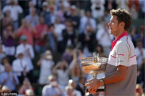 Lập kỳ tích Roland Garros, Wawrinka lọt top 4 thế giới