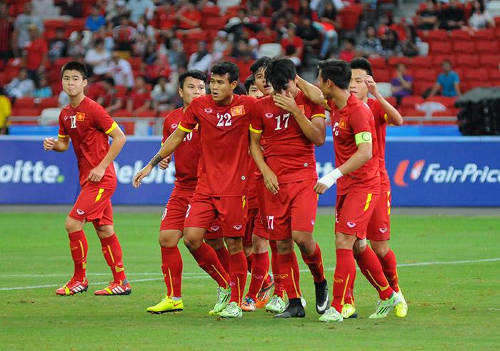Chùm ảnh chiến thắng huỷ diệt ...an ủi của U23 Việt Nam - Ảnh 2