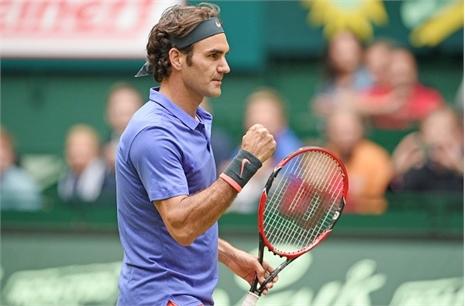 Federer lần thứ 10 vào chung kết Gerry Weber