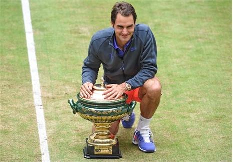 Federer lập kỷ lục 8 lần vô địch Gerry Weber Open