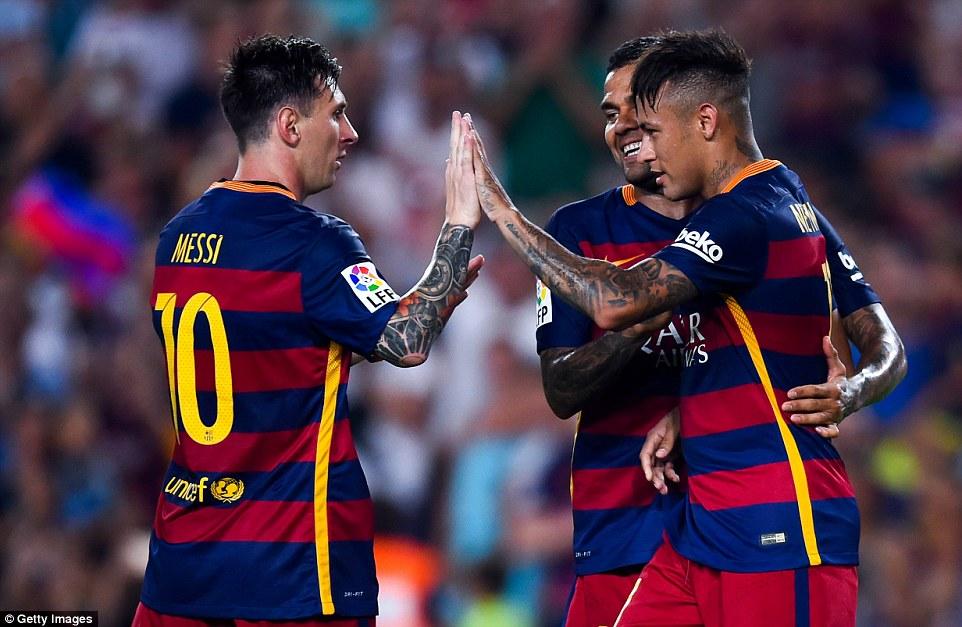 Messi, Neymar, Barca, AS Roma
