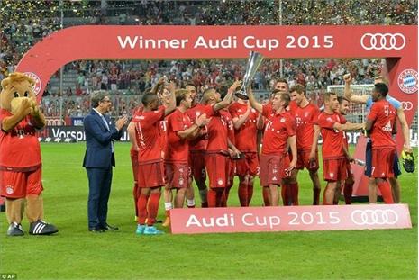 Hạ Real, Bayern vô địch Audi Cup