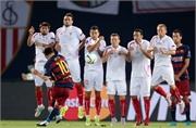 Xem 2 siêu phẩm sút phạt của Messi cháy lưới Sevilla