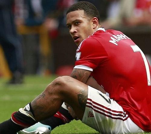 Depay, Blind, than thở, M.U,Van Gaal, Premier League