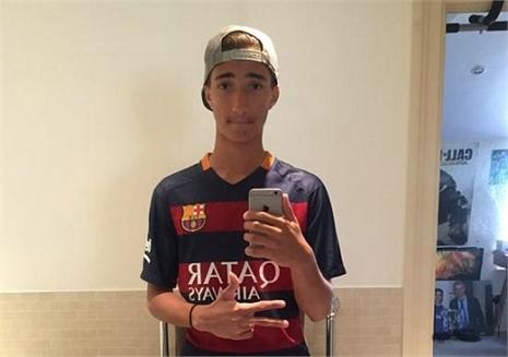 Con trai 'làm khó' Mourinho, cuồng Barca & Messi