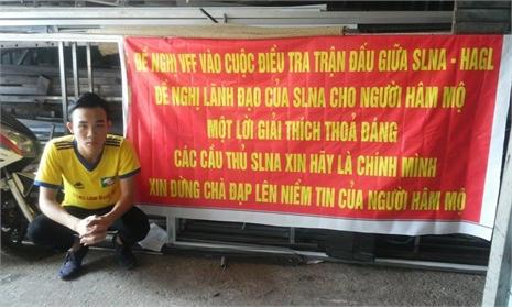 Fan SLNA đề nghị VFF điều tra đội nhà