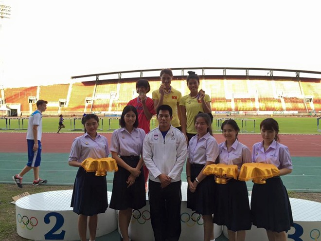 Điền kinh, Việt Nam, 2 HCV, Thái Lan