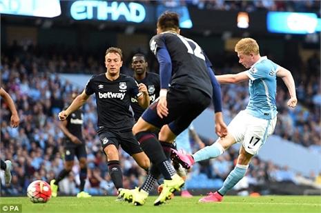 Xem bàn thắng đầu tiên của De Bruyne cho Man City