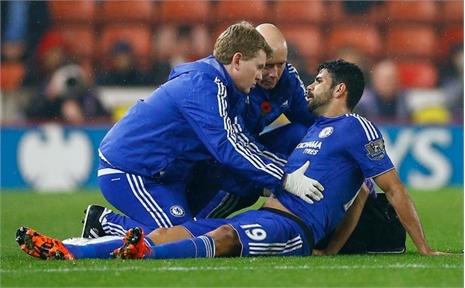 Mourinho nhận thêm cú sốc: Diego Costa nhập viện
