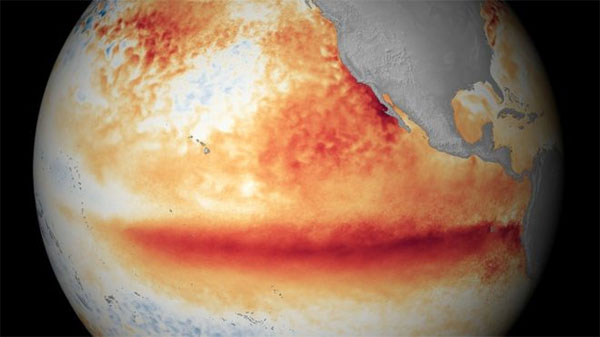 New El Niño weather event, this winter, global temperatures