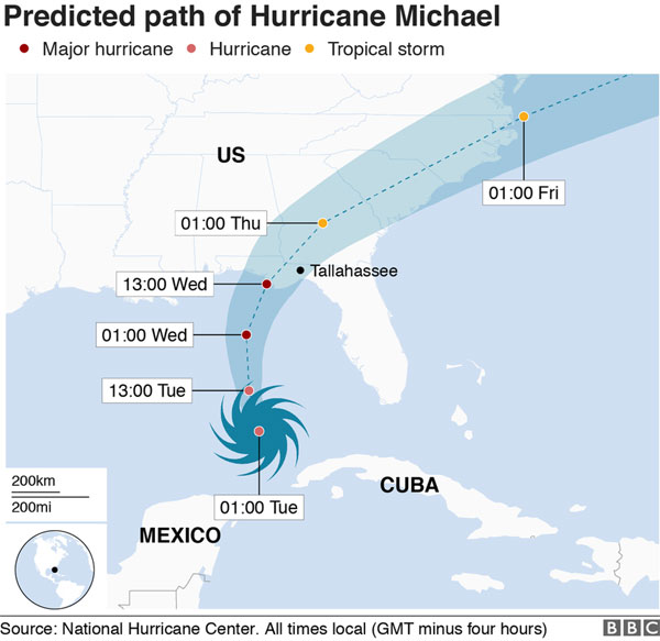 Hurricane Michael: 'Extremely dangerous' storm set to hit Florida