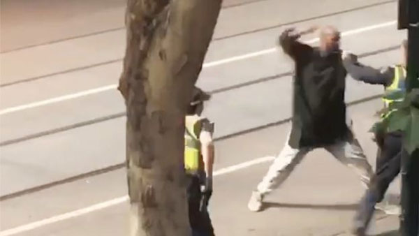 Melbourne attack, after fire and stabbings, man arrested