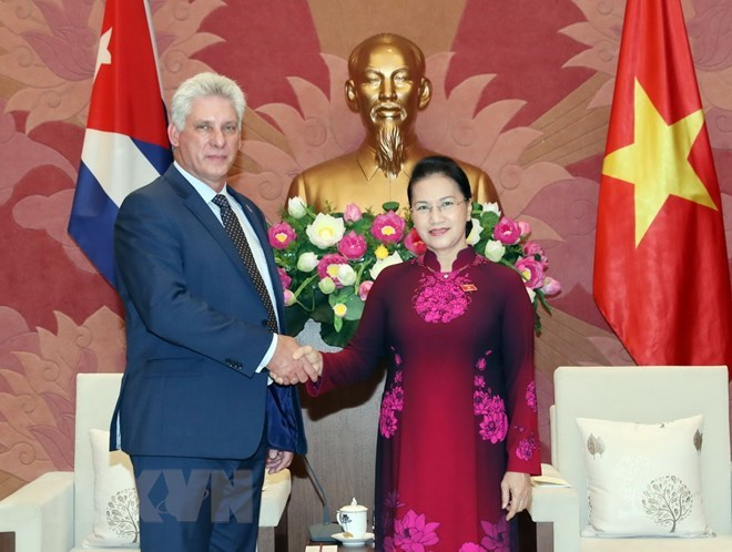 Vietnamese leaders meet with Cuban President of Council of State, Government news, Vietnam breaking news, politic news, vietnamnet bridge, english news, Vietnam news, news Vietnam, vietnamnet news, Vietnam net news, Vietnam latest news, vn news