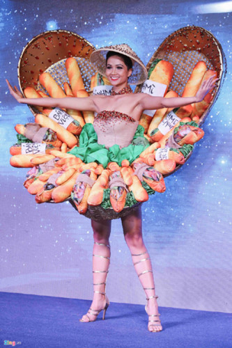 "H'Hen Nie to showcase ""Banh Mi"" national costume at Miss Universe 2018, entertainment events, entertainment news, entertainment activities, what's on, Vietnam culture, Vietnam tradition, vn news, Vietnam beauty, news Vietnam, Vietnam news, Vietnam net new"