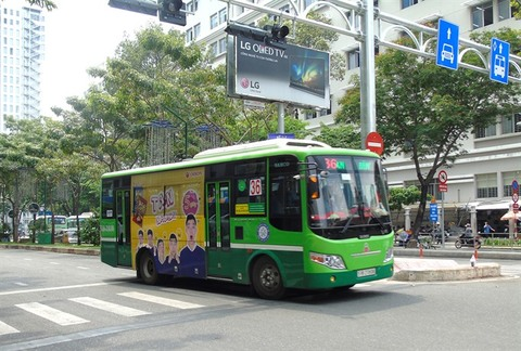 HCM City to auction bus advertising space again, vietnam economy, business news, vn news, vietnamnet bridge, english news, Vietnam news, news Vietnam, vietnamnet news, vn news, Vietnam net news, Vietnam latest news, Vietnam breaking news