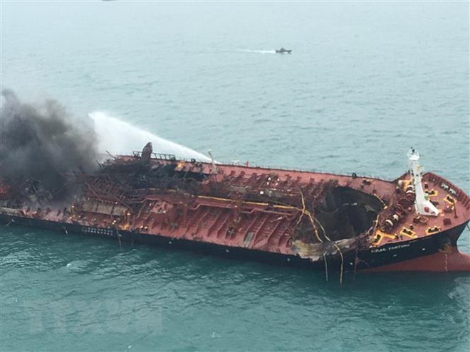 VN oil tanker fire: Search, rescue efforts underway, social news, vietnamnet bridge, english news, Vietnam news, news Vietnam, vietnamnet news, Vietnam net news, Vietnam latest news, vn news, Vietnam breaking news