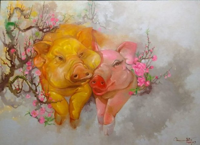 Painting exhibition welcomes Year of the Pig, entertainment events, entertainment news, entertainment activities, what's on, Vietnam culture, Vietnam tradition, vn news, Vietnam beauty, news Vietnam, Vietnam news, Vietnam net news, vietnamnet news, vietna