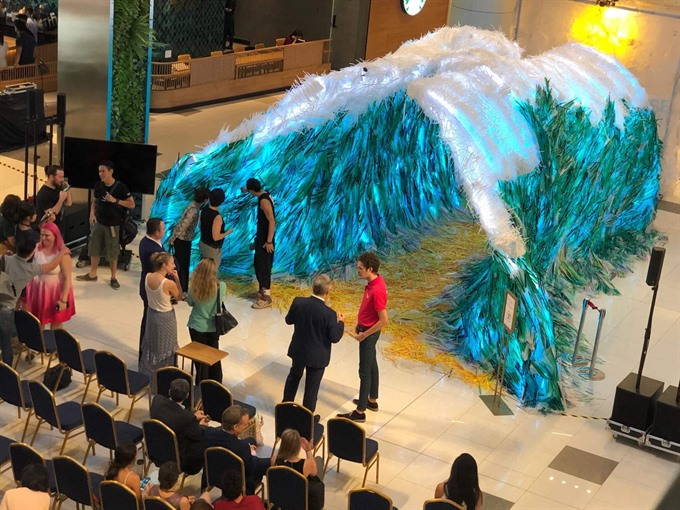 HCM City art installation raises awareness about impact of plastic waste, entertainment events, entertainment news, entertainment activities, what's on, Vietnam culture, Vietnam tradition, vn news, Vietnam beauty, news Vietnam, Vietnam news, Vietnam net n
