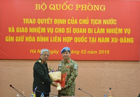 Another Vietnamese officer assigned peacekeeping duty in South Sudan, Government news, Vietnam breaking news, politic news, vietnamnet bridge, english news, Vietnam news, news Vietnam, vietnamnet news, Vietnam net news, Vietnam latest news, vn news