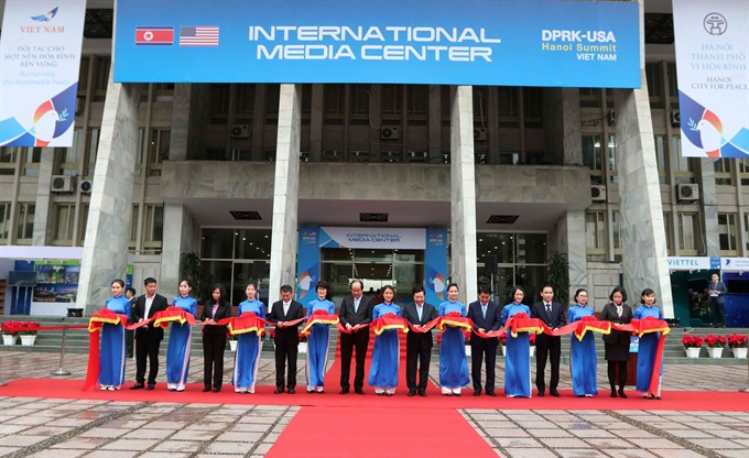 Int'l media centre for 2nd DPRK-USA Summit inaugurated in Hanoi, Government news, Vietnam breaking news, politic news, vietnamnet bridge, english news, Vietnam news, news Vietnam, vietnamnet news, Vietnam net news, Vietnam latest news, vn news
