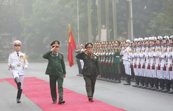 Senior officers of Lao army pay official visit to Vietnam, Government news, Vietnam breaking news, politic news, vietnamnet bridge, english news, Vietnam news, news Vietnam, vietnamnet news, Vietnam net news, Vietnam latest news, vn news