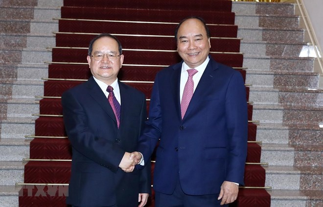 Prime Minister meets party chief of Guangxi's Zhuang autonomous region, Government news, Vietnam breaking news, politic news, vietnamnet bridge, english news, Vietnam news, news Vietnam, vietnamnet news, Vietnam net news, Vietnam latest news, vn news
