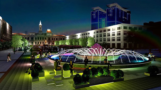 HCM City pedestrian street to have new fountain, travel news, Vietnam guide, Vietnam airlines, Vietnam tour, tour Vietnam, Hanoi, ho chi minh city, Saigon, travelling to Vietnam, Vietnam travelling, Vietnam travel, vn news
